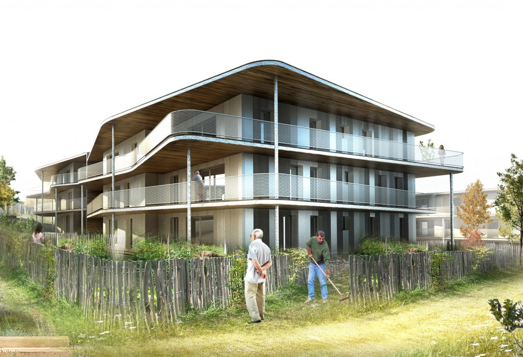 patey architectes - construction de 47 logements locatifs et en accession à la propriété à cognin - savoie