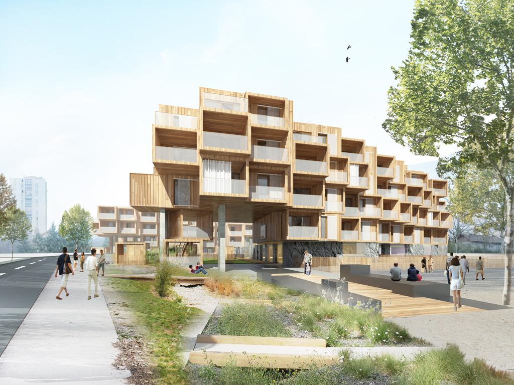 concours pour la construction de 80 logements (ilôts D.E) à aix les bains – savoie