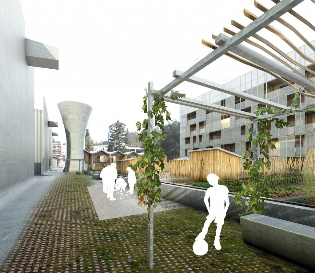 patey architectes - construction de 61 logements, 27 logements hors ANRU + 19 logements ANRU + 15 logements, mission : base + exe + hqe à firminy - loire