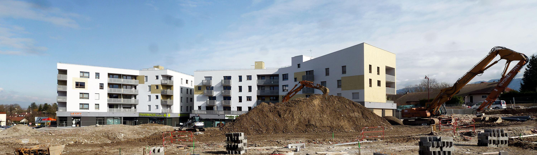 patey architectes - construction de 65 logements et surfaces commerciales à viry - haute savoie
