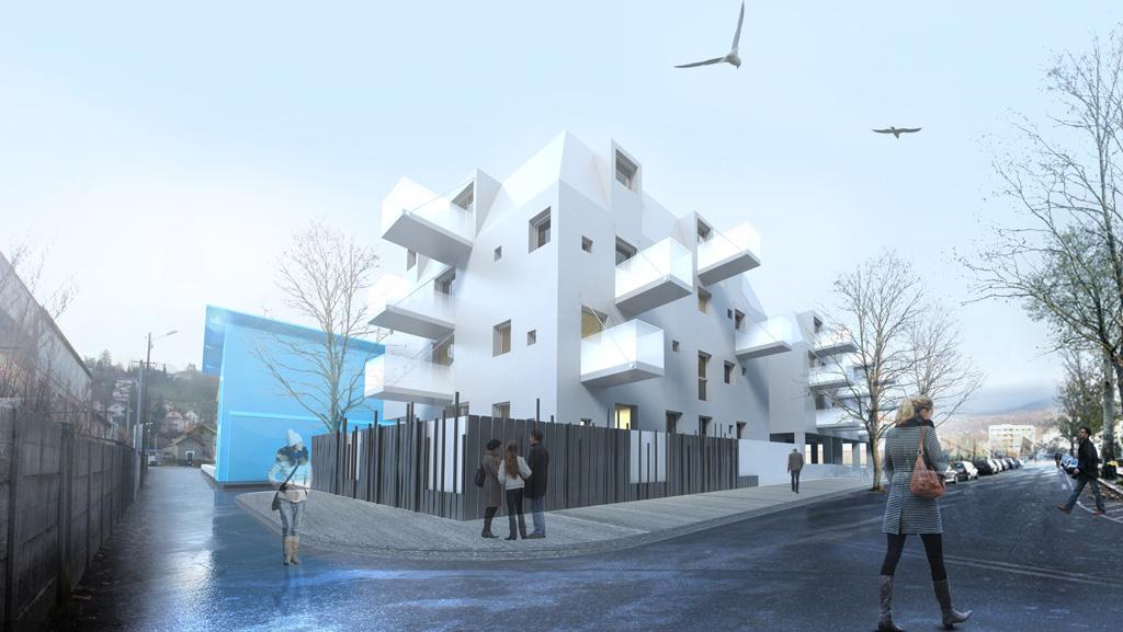 chantier en cours – construction de 40 logements locatifs à aix les bains – savoie