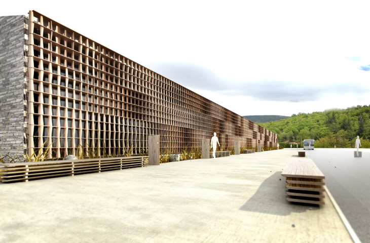 concours pour la construction d'un collège – vallon pont d'arc – ardèche