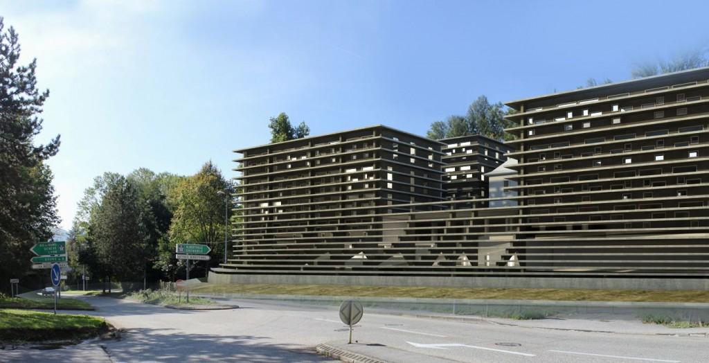 patey architectes - construction d'un ensemble tertiaire à la cassine - chambéry - savoie