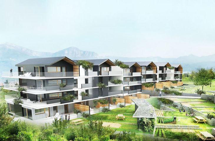 chantier en cours – construction de 65 logements dans la zac les chataigneraies à jacob bellecombette – savoie