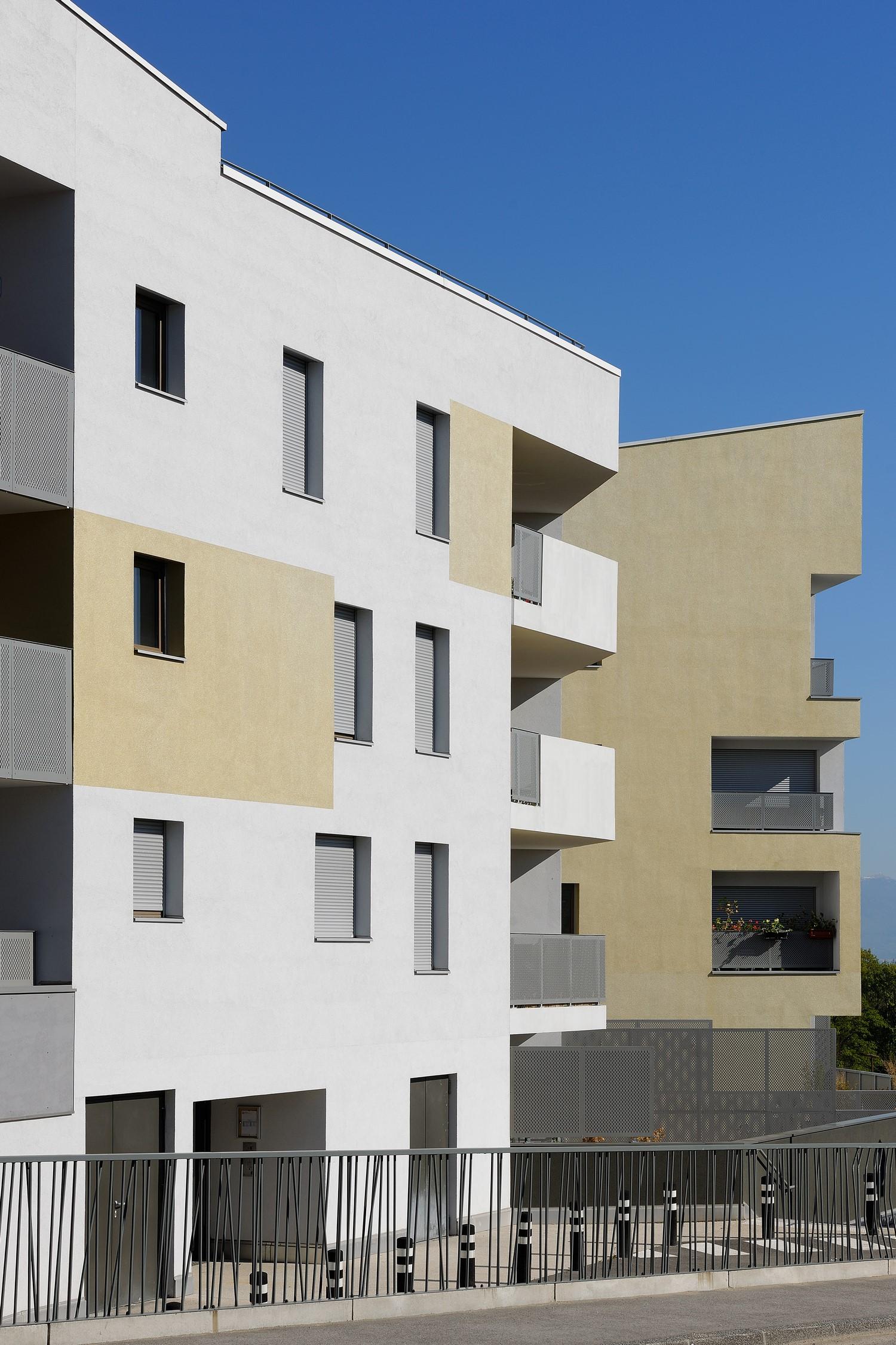 pateyarchitectes - construction de 65 logements grand angle à viry - haute savoie