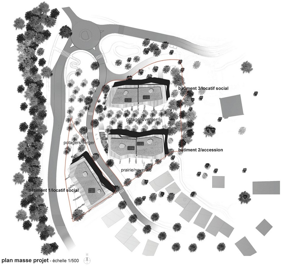 """pateyarchitectes - construction de 47 logements """"l'opaline"""" au maupas à cognin - savoie"""