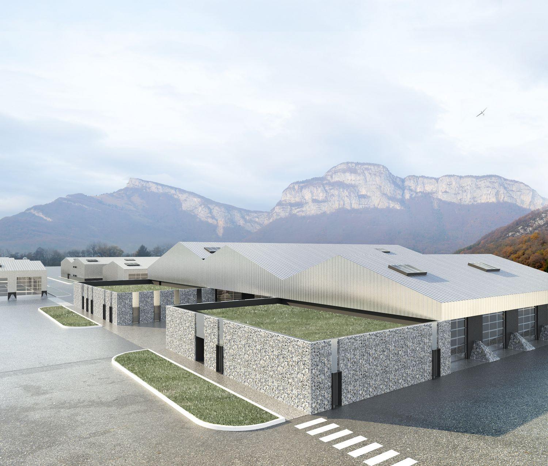 pateyarchitectes - chantier en cours - adaptation des infrastructures au quartier roc noir à barby - savoie