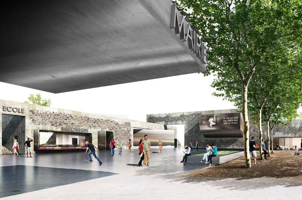 concours pour la réalisation de la nouvelle mairie, de la bibliothèque, … à chavanod – haute savoie