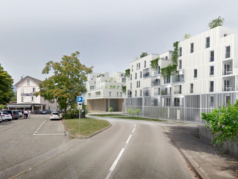 pateyarchitectes - chantier en cours - construction de 61 logements à chambéry - savoie