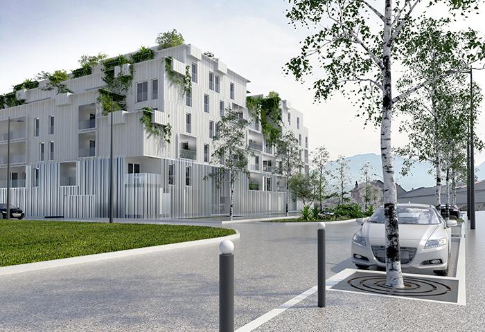 chantier en cours – construction de 61 logements à chambéry – savoie