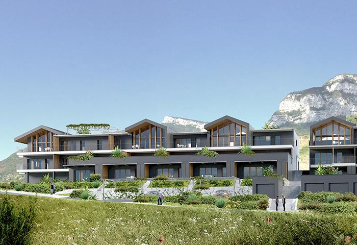 chantier en cours pour la construction de 35 logements à la zac du grand clos à barby – savoie