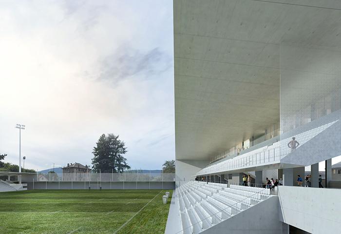 études en cours – reconstruction du stade (5000 pl) de chambéry – savoie