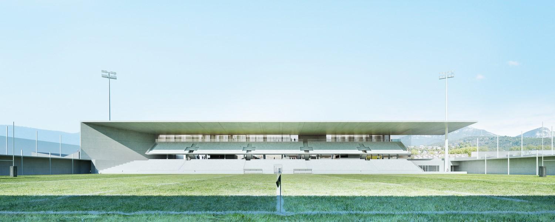 pateyarchitectes - reconstruction du stade (5000 pl) de chambéry - savoie